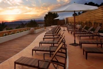 Hotel Balneario Paracuellos de Jiloca - Terraza piscina