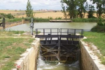 Quinta del Canal - La 7ª esclusa con Tamariz al fondo