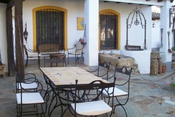 Quinta del Canal - Detalle de la terraza/barbacoa