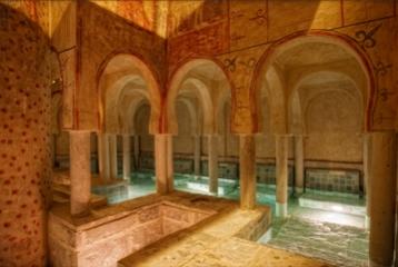 Burgo de Osma - Sala de baños Poza de agua caliente