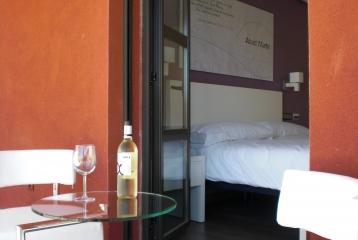 Bodegas y Hotel Felix Sanz - Terraza desde Abad Martín