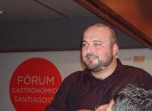 Manuel Gago en su exposición durante el Encuentro de bloggers.