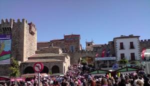 Plaza Mayor de Cáceres celebrando su Feria gastronómica