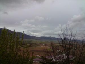 Panorámica de la Sierra Cantabria desde las ventanas del Hotel El Collado