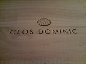 Caja de madera donde se trasladan las botellas de Clos DOminic