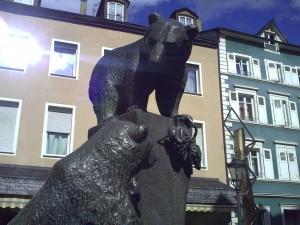 Motivos vinícolas en las plazas de Bernkastel