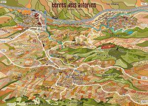 Mapa de Terres dels Alforins diseñado por javier Mariscal
