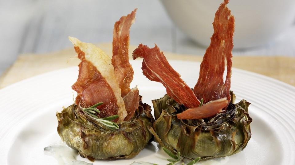 plato ligero de alcachofas