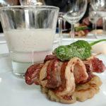 Almuerzo villenero reinterpretado como cocina de fusión en restaurante Miguel Ángel