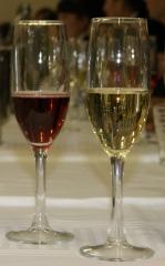 Dos copas, dos colores, dos sensaciones